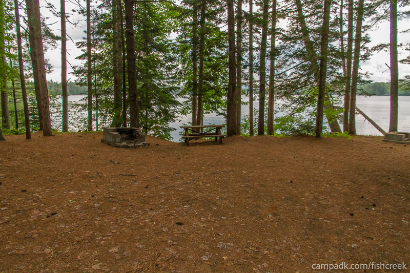 Campsite Photo of Site 131 at Fish Creek Pond Campground, New York - Looking at Site from Part Way In