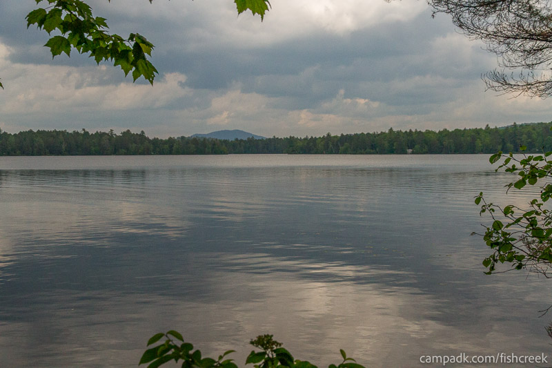 Campsite Photo of Site 131 at Fish Creek Pond Campground, New York - View from Shoreline