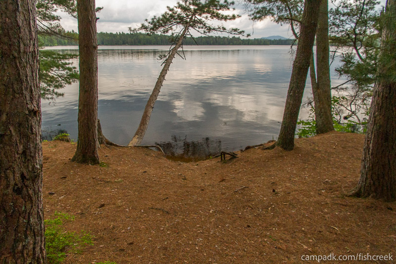 Campsite Photo of Site 133 at Fish Creek Pond Campground, New York - Pathway Down to Water