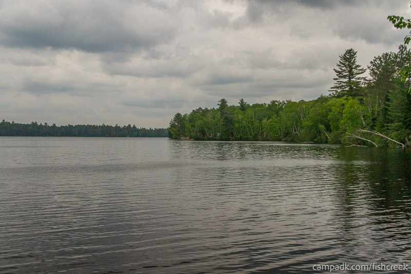Campsite Photo of Site 165 at Fish Creek Pond Campground, New York - View from Shoreline
