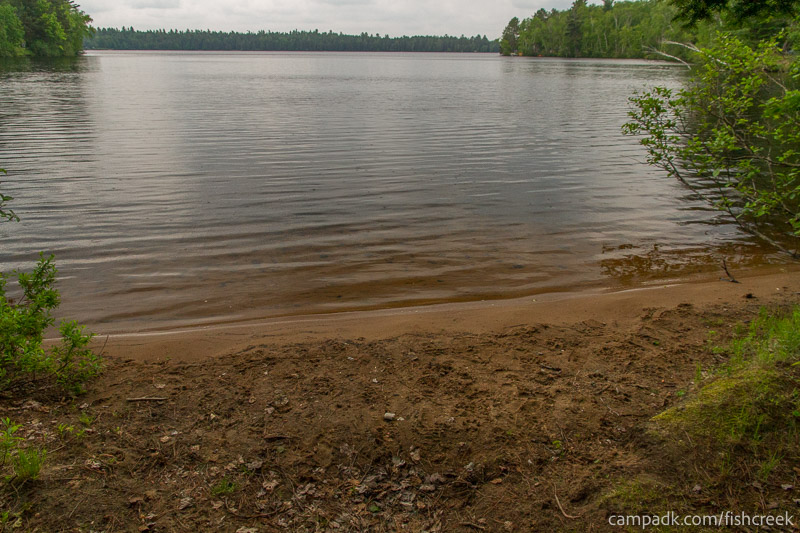 Campsite Photo of Site 166 at Fish Creek Pond Campground, New York - Shoreline