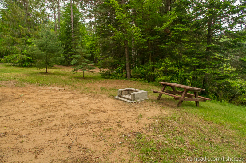 Campsite Photo of Site 167 at Fish Creek Pond Campground, New York - Cross Site View