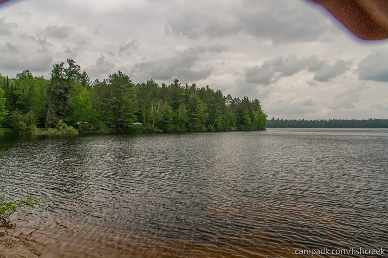 Campsite Photo of Site 167 at Fish Creek Pond Campground, New York - View from Shoreline