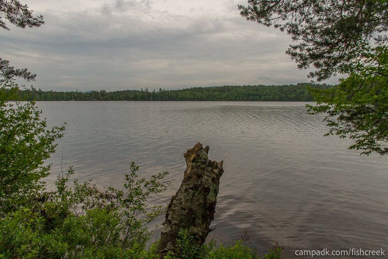 Campsite Photo of Site 263 at Fish Creek Pond Campground, New York - View from Shoreline