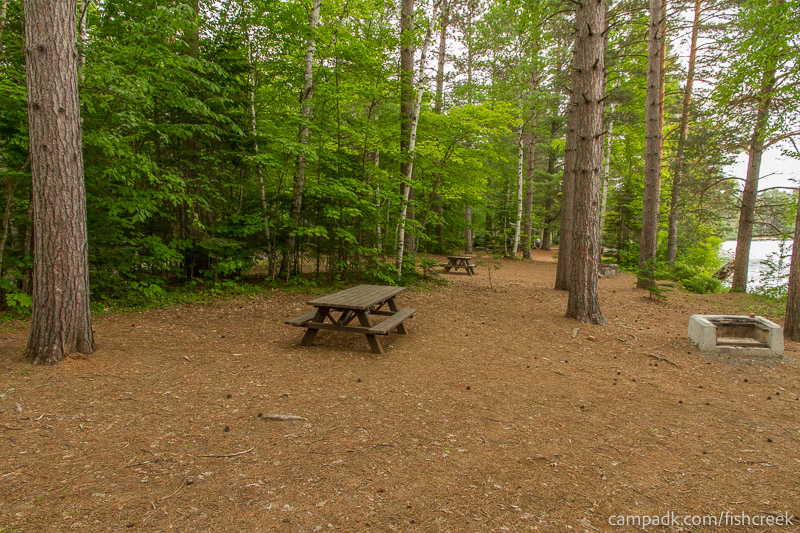 Campsite Photo of Site 264 at Fish Creek Pond Campground, New York - Cross Site View