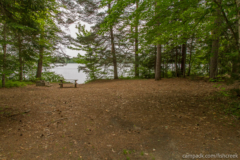 Campsite Photo of Site 266 at Fish Creek Pond Campground, New York - Looking at Site from Road