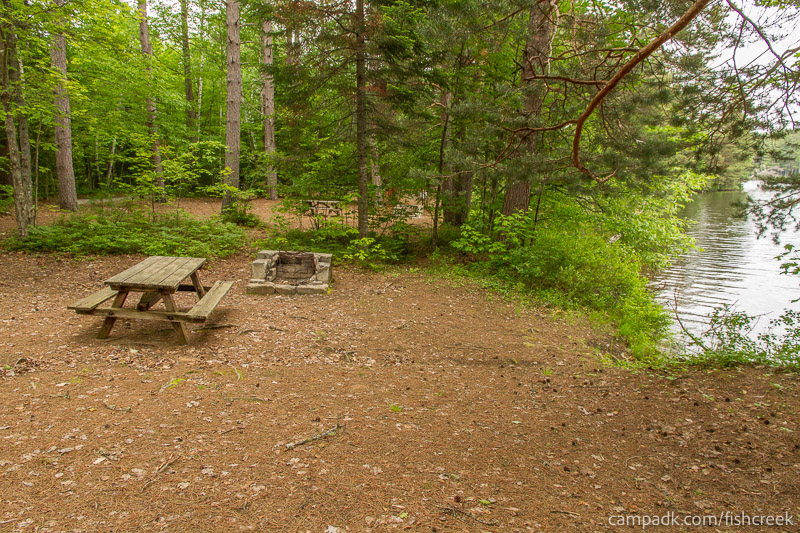 Campsite Photo of Site 266 at Fish Creek Pond Campground, New York - Cross Site View