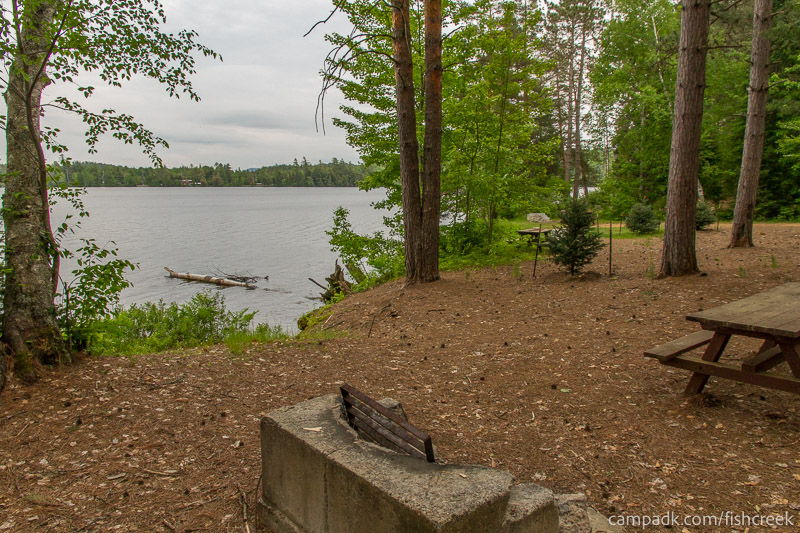 Campsite Photo of Site 270 at Fish Creek Pond Campground, New York - Cross Site View