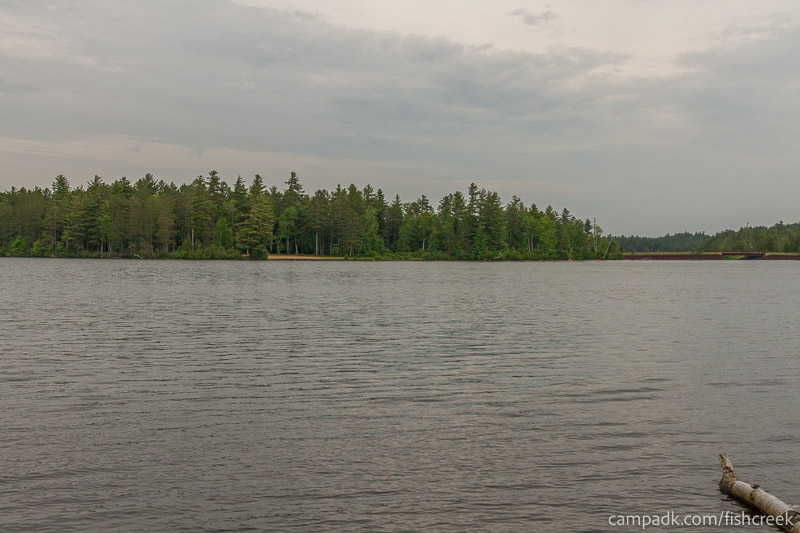 Campsite Photo of Site 270 at Fish Creek Pond Campground, New York - View from Shoreline