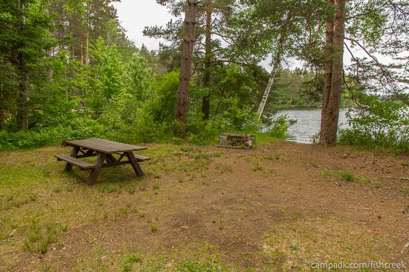 Campsite Photo of Site 273 at Fish Creek Pond Campground, New York - Cross Site View