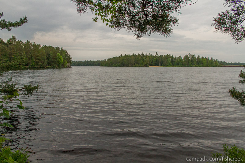 Campsite Photo of Site 273 at Fish Creek Pond Campground, New York - View from Shoreline