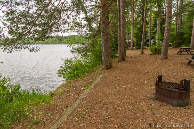Campsite Photo of Site 275 at Fish Creek Pond Campground, New York - Cross Site View