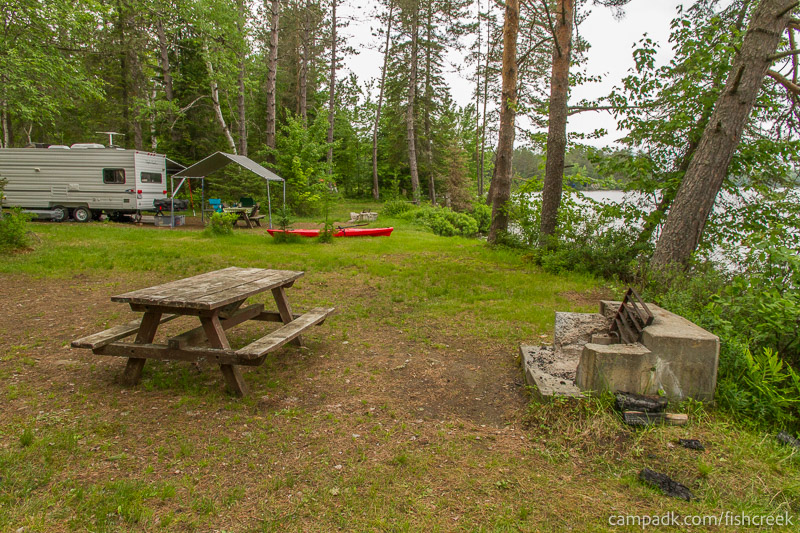 Campsite Photo of Site 283 at Fish Creek Pond Campground, New York - Cross Site View