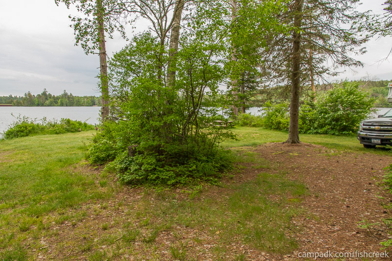 Campsite Photo of Site 287 at Fish Creek Pond Campground, New York - Looking at Site from Part Way In