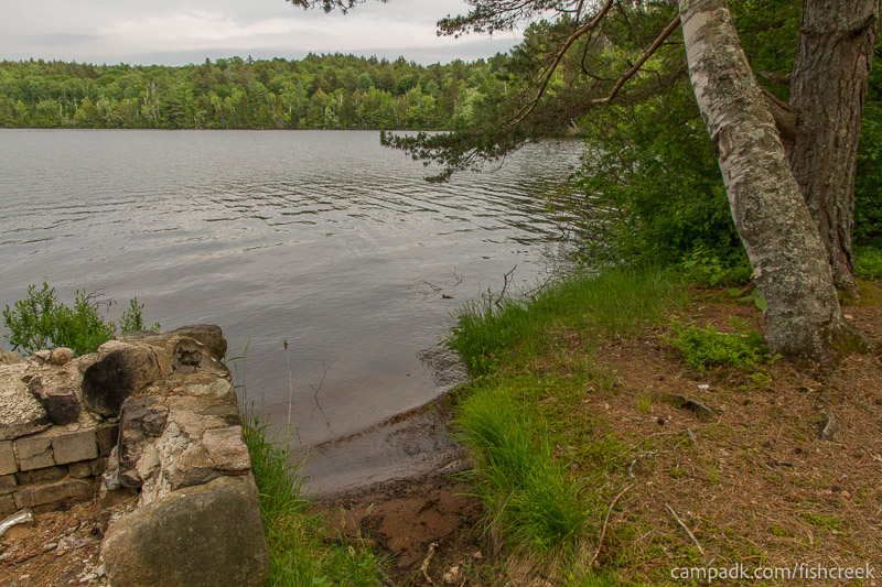 Campsite Photo of Site 289 at Fish Creek Pond Campground, New York - Shoreline