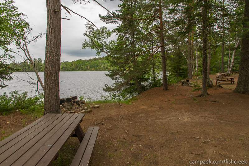 Campsite Photo of Site 297 at Fish Creek Pond Campground, New York - Cross Site View
