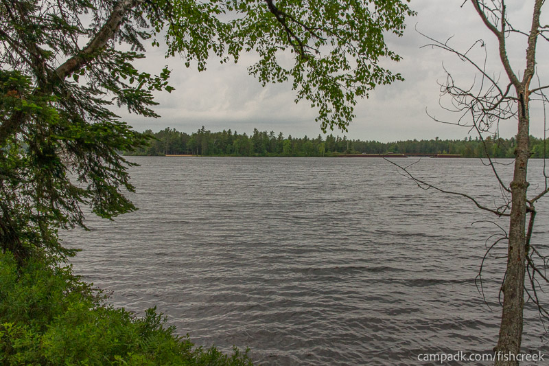 Campsite Photo of Site 297 at Fish Creek Pond Campground, New York - View from Shoreline