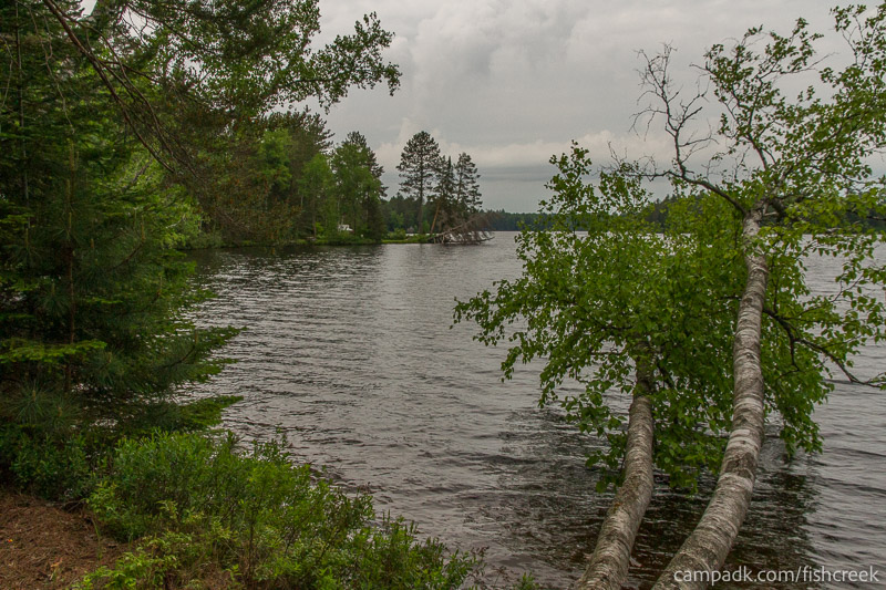 Campsite Photo of Site 299 at Fish Creek Pond Campground, New York - View from Shoreline