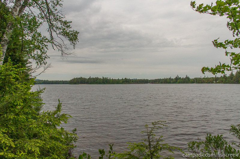 Campsite Photo of Site 304 at Fish Creek Pond Campground, New York - View from Shoreline