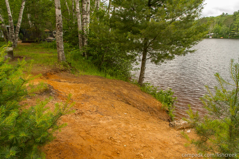 Campsite Photo of Site 180 at Fish Creek Pond Campground, New York - Shoreline