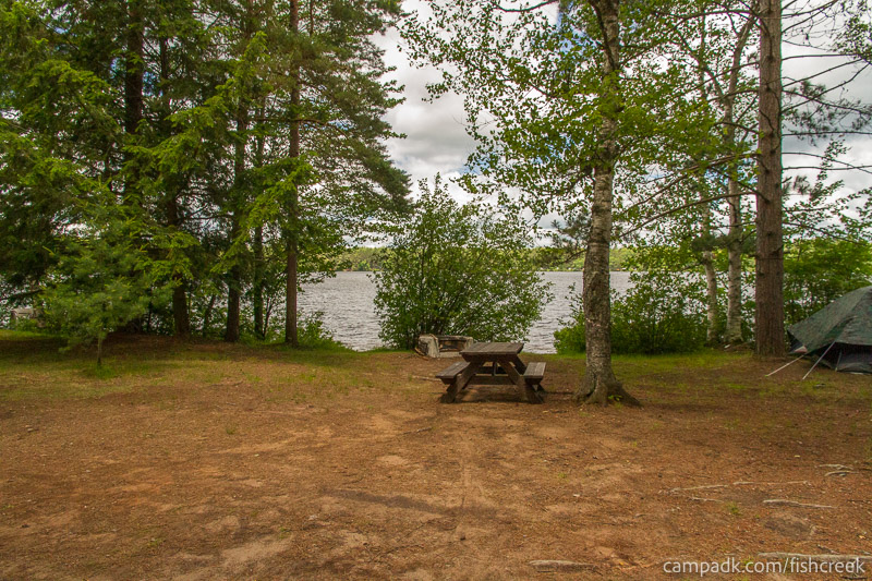 Campsite Photo of Site 209 at Fish Creek Pond Campground, New York - Looking at Site from Part Way In