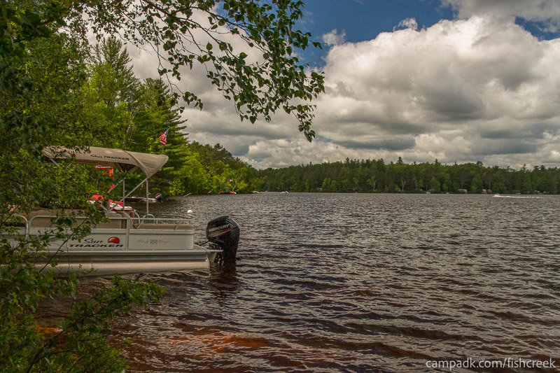 Campsite Photo of Site 209 at Fish Creek Pond Campground, New York - View from Shoreline