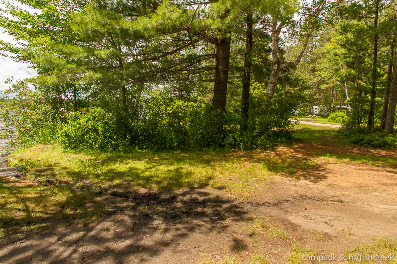 Campsite Photo of Site 68 at Fish Creek Pond Campground, New York - Cross Site View