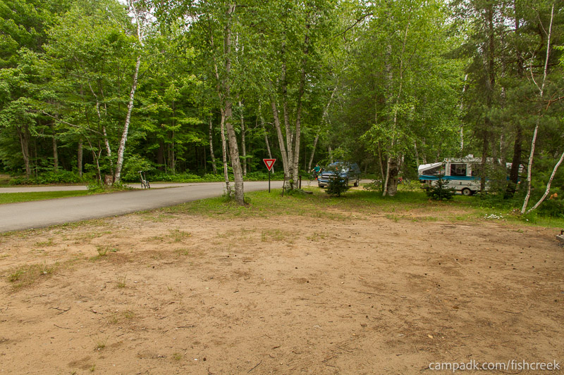 Campsite Photo of Site 51 at Fish Creek Pond Campground, New York - Cross Site View