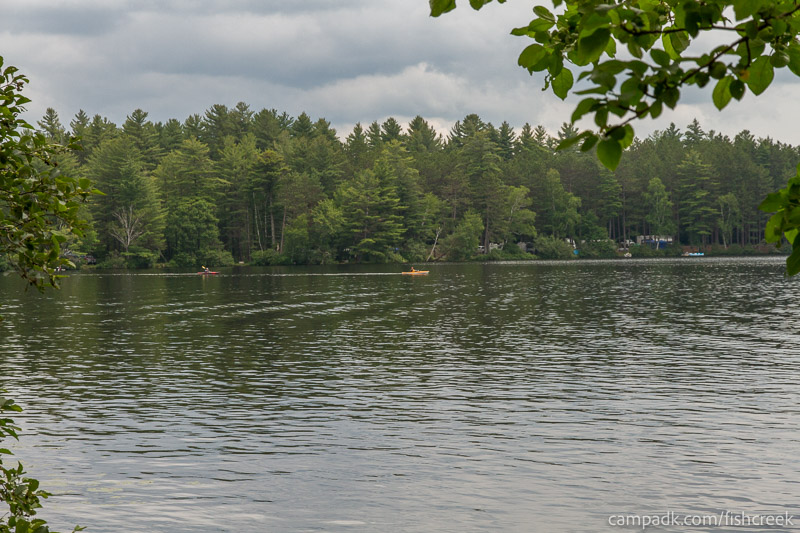 Campsite Photo of Site 51 at Fish Creek Pond Campground, New York - View from Shoreline