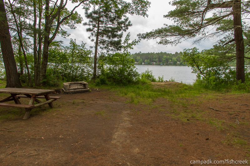 Campsite Photo of Site 31 at Fish Creek Pond Campground, New York - Looking at Site from Part Way In