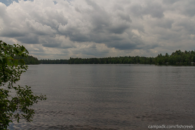 Campsite Photo of Site 31 at Fish Creek Pond Campground, New York - View from Shoreline