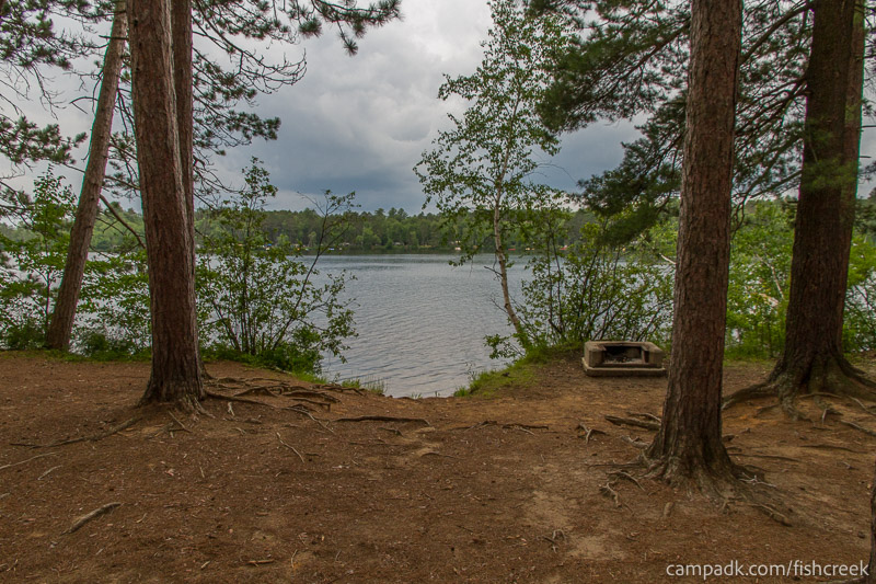 Campsite Photo of Site 20 at Fish Creek Pond Campground, New York - Looking at Site from Part Way In