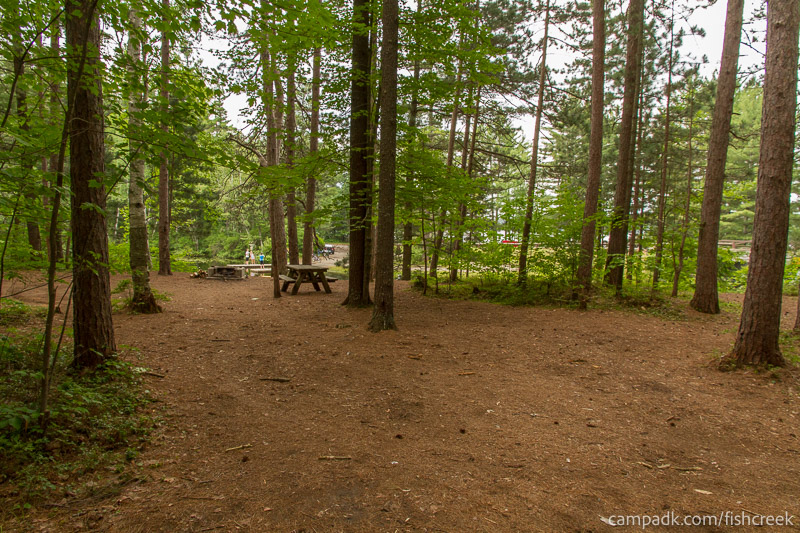 Campsite Photo of Site C9 at Fish Creek Pond Campground, New York - Looking at Site from Road