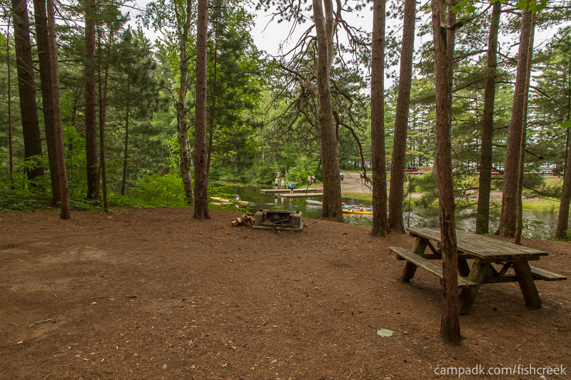 Campsite Photo of Site C9 at Fish Creek Pond Campground, New York - Looking at Site from Part Way In