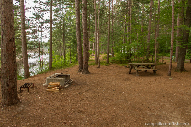 Campsite Photo of Site C9 at Fish Creek Pond Campground, New York - Cross Site View