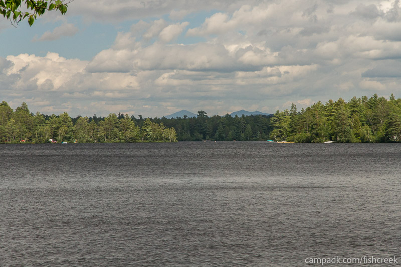 Campsite Photo of Site 147 at Fish Creek Pond Campground, New York - View from Shoreline