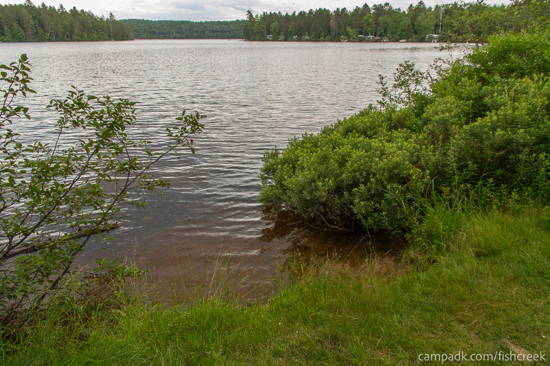 Campsite Photo of Site 64 at Fish Creek Pond Campground, New York - Pathway Down to Water
