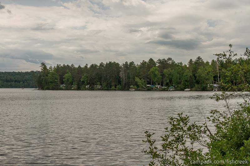 Campsite Photo of Site 64 at Fish Creek Pond Campground, New York - View from Shoreline