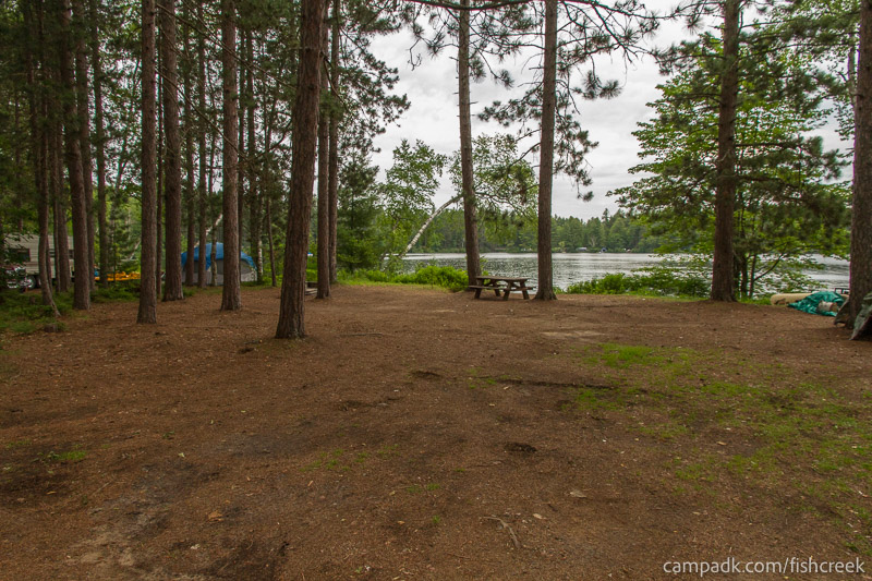 Campsite Photo of Site 59 at Fish Creek Pond Campground, New York - Looking at Site from Road