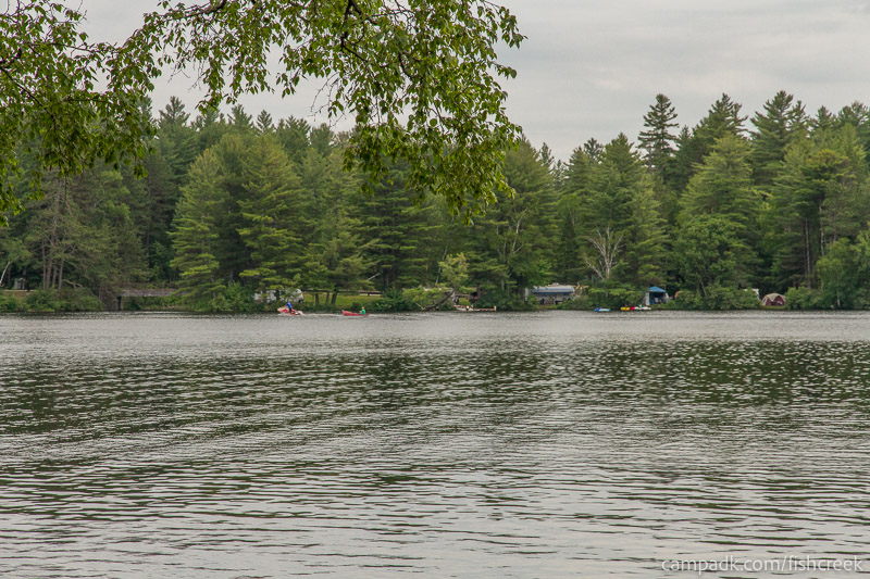 Campsite Photo of Site 59 at Fish Creek Pond Campground, New York - View from Shoreline