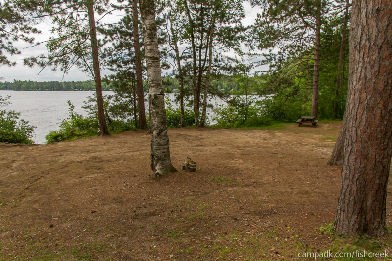 Campsite Photo of Site 35 at Fish Creek Pond Campground, New York - Looking at Site from Road