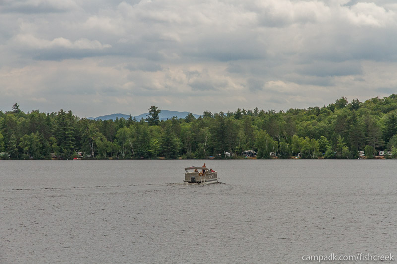 Campsite Photo of Site 118 at Fish Creek Pond Campground, New York - View from Shoreline