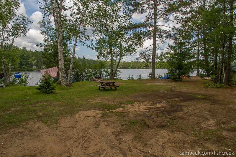 Campsite Photo of Site 185 at Fish Creek Pond Campground, New York - Looking at Site from Part Way In