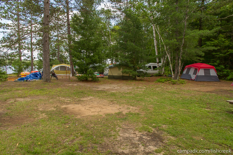 Campsite Photo of Site 185 at Fish Creek Pond Campground, New York - Cross Site View