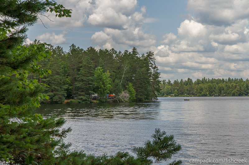 Campsite Photo of Site 277 at Fish Creek Pond Campground, New York - View from Shoreline