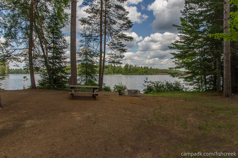 Campsite Photo of Site 278 at Fish Creek Pond Campground, New York - Looking at Site from Part Way In