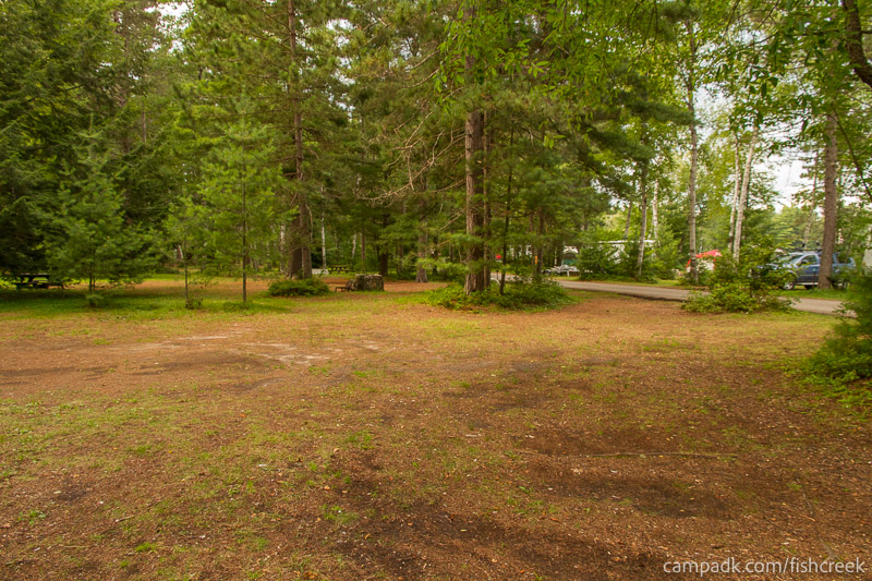 Campsite Photo of Site A10 at Fish Creek Pond Campground, New York - Cross Site View