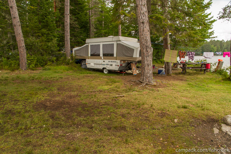 Campsite Photo of Site 281 at Fish Creek Pond Campground, New York - Cross Site View