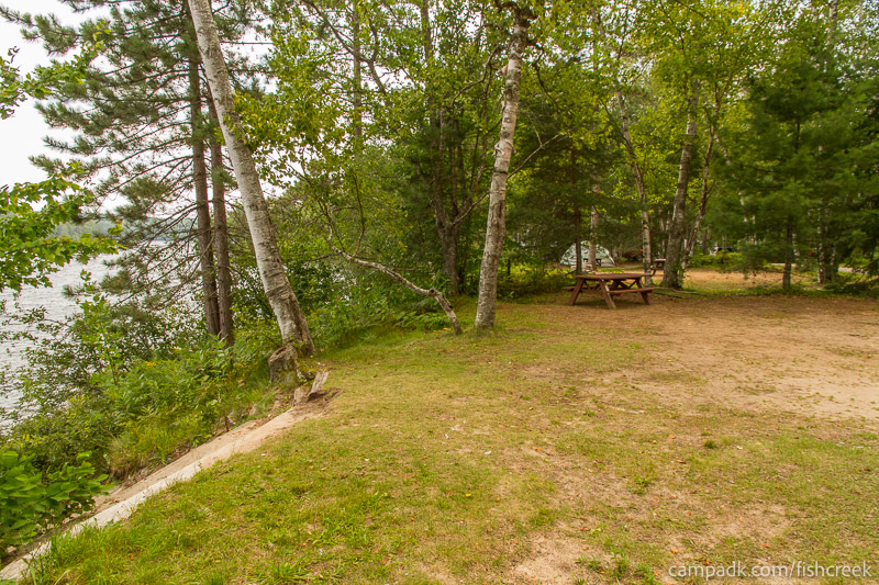 Campsite Photo of Site 53 at Fish Creek Pond Campground, New York - Cross Site View