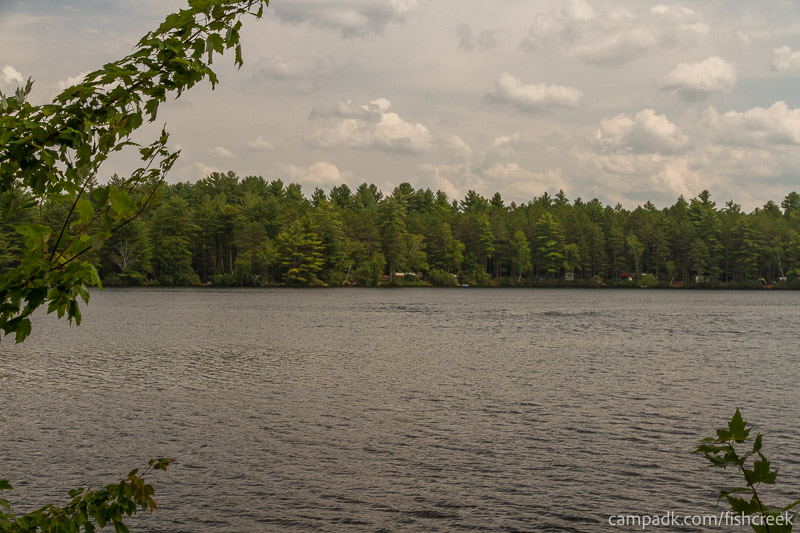 Campsite Photo of Site 53 at Fish Creek Pond Campground, New York - View from Shoreline